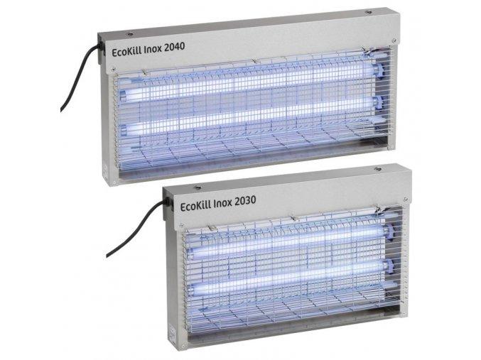 Hubič much elektrický EcoKill Inox, nerez, 2 x 15 W