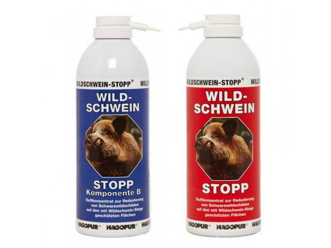 STOP divočákům - Wildschwein-STOPP - Hagopur, pachový ohradník, 400 ml, modrá