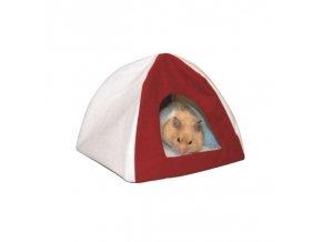 Domek pro křečky a malé hlodavce textilní TIPI, 18 x 18 x 15 cm