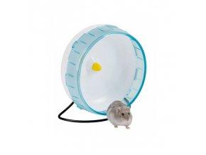 Kolotoč pro křečky, malé hlodavce plastový, tyrkysový, 20 cm