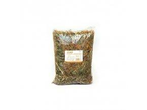 Krmivo a podestýlka - seno s bylinkami 15l