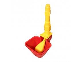 Automatická napáječka větší pro drůbež a křepelky s prodloužením 5 cm, žluté
