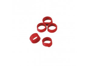 Kroužky na slepice, spirálové, 16 mm, 20 ks, červená