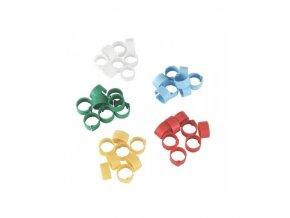 Kroužky na slepice, 5 barev, 12 mm, 100 ks