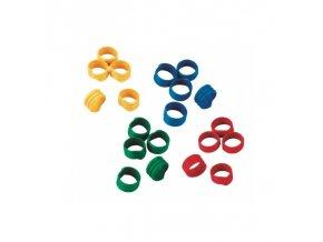 Kroužky na slepice, spirálové, 4 barvy, 12 mm - prodej po kuse