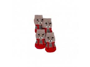 Ponožky pro psy BRUNO pletené, protiskluzové, S