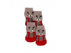 Ponožky pro psy BRUNO pletené, protiskluzové, L