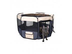 Výběh látkový osmistěnný cestovní pro psy a kočky, 116 x 116 x 61 cm