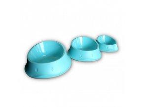 Miska plastová Chic pro psy a kočky, protiskluzová, karibská modrá, 350 ml