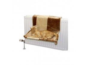 Odpočívadlo pro kočky na topení PARADIES, 50 x 35 cm / hnědá