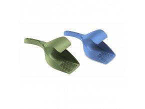 Lopatka na trus plastová TWICE, pastelově modrá