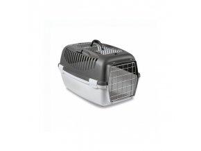 Přepravka pro psy a kočky Gulliver 3 Top Free, šedá, 61x40x38cm, kovová dvířka
