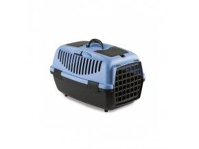 Přepravka pro psy a kočky Gulliver 2, šedá, 55x36x35cm, plastová dvířka NEW