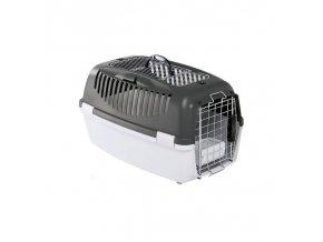 Přepravka pro psy a kočky Gulliver 3 DELUXE Top Free, 61x40x38cm, šedá