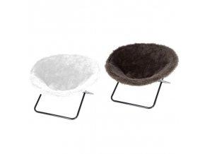Pelíšek pro kočky SHARON - židle pro kočky, bílá