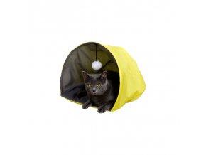 Kukaň pro kočky s bambulkou