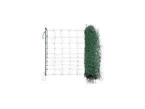 Síť pro elektrické ohradníky na ovce Ovinet 108 cm, 50 m, Zelená, 2 hroty