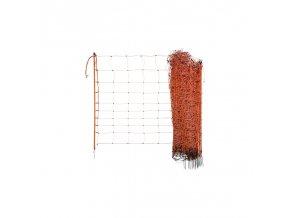 Síť pro elektrické ohradníky na ovce Ovinet 108 cm, 50 m, Oranžová, 1 hrot