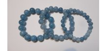 Náramek z drahých kamenů 8 mm, 10 mm, 12 mm, angelit - energetický náramek  - více druhů