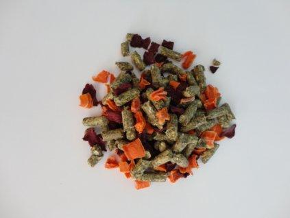 Granule pro činčily se zeleninou