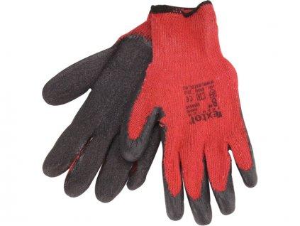 """rukavice EXTOL PREMIUM bavlněné polomáčené v LATEXU - velikost 10"""""""