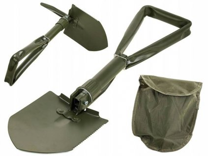Army lopatka - rýček skládací 59 cm, s motyčkou a nylonovým pouzdrem na opasek