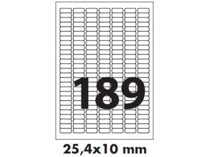Etikety polyesterové - transparentní mat. 25,4 X 10 mm