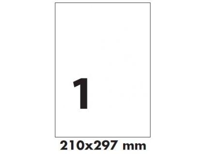 Transparentní samolepicí etikety 210x297mm  Garance kvality