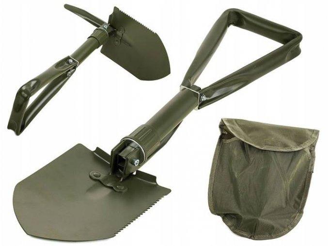 Army lopatka ČERNÁ - rýček skládací 59 cm, s motyčkou a nylonovým pouzdrem na opasek
