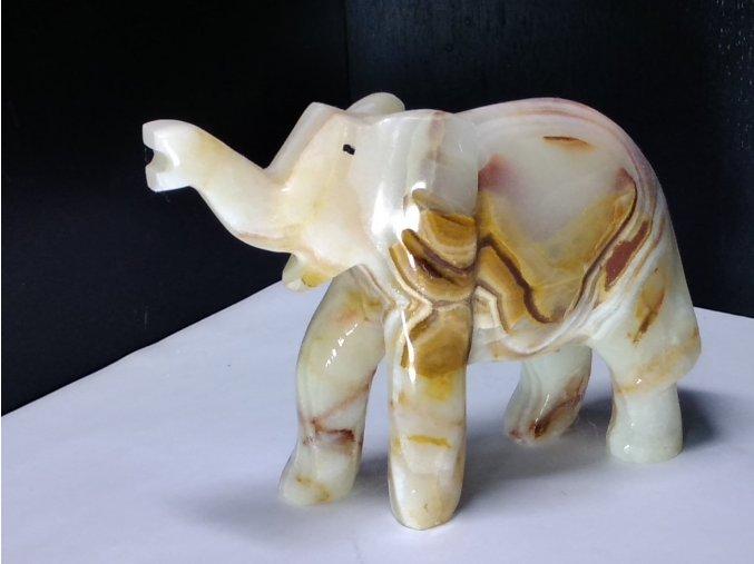 Onyxový slon XXL