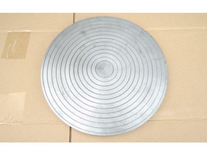 Brusný kotouč DRÁŽKOVANÝ 2 se středovým otvorem - závitem - Litinový kotouč na broušení minerálů a skla. Čelní kotouč na rovinné broušení a leštění. Bruska na acháty, minerály a sklo