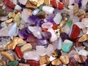 Tromlované drahé kameny - směs