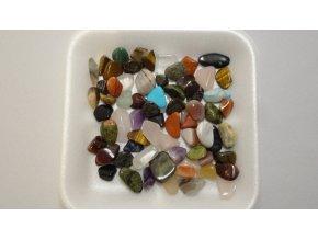 Tromlované drahé kameny - směs s tyrkysem 100 g