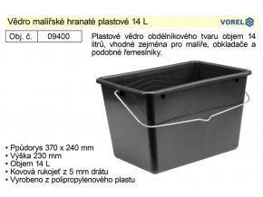 Vědro hranaté plastové 14 L