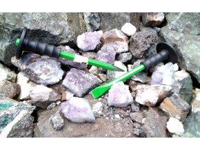 Sekáč plochý a špičatý s chráničem 300x16x19mm - zelený