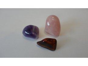 Tromlované drahé kameny 3 ks XXL