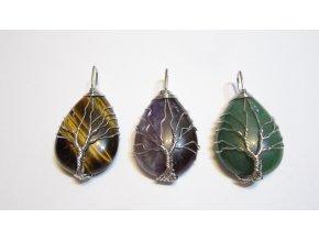 Přívěsek - strom života  - stříbrný drátek