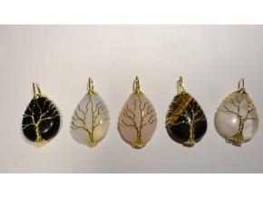 Přívěsek - strom života  - zlatý drátek