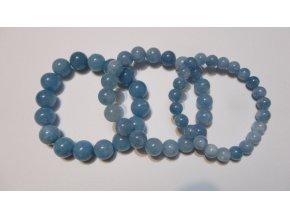 Náramek z drahých kamenů angelit a růženín 8 mm, 10 mm, 12 mm - energetický náramek