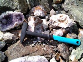 ,,Geologické,, kladivo 400 g nejen pro malé osoby - AKCE - VÝHODNÝ SET s koženým okem
