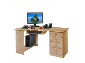 PC stůl rohový 8846 lakovaný