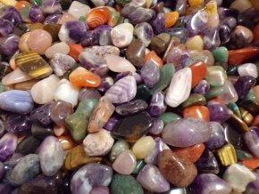 Tromlované drahé kameny XXL 100 g
