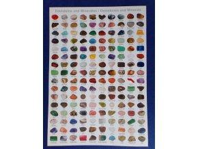 Plakát 30 x 42 cm  - Tromlované drahé kameny - 160 druhů
