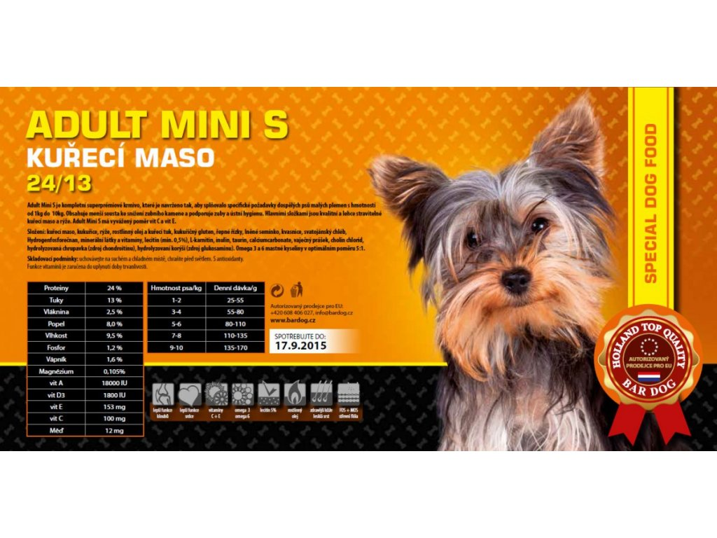 Bardog Adult Mini S 24/13 Super Premium