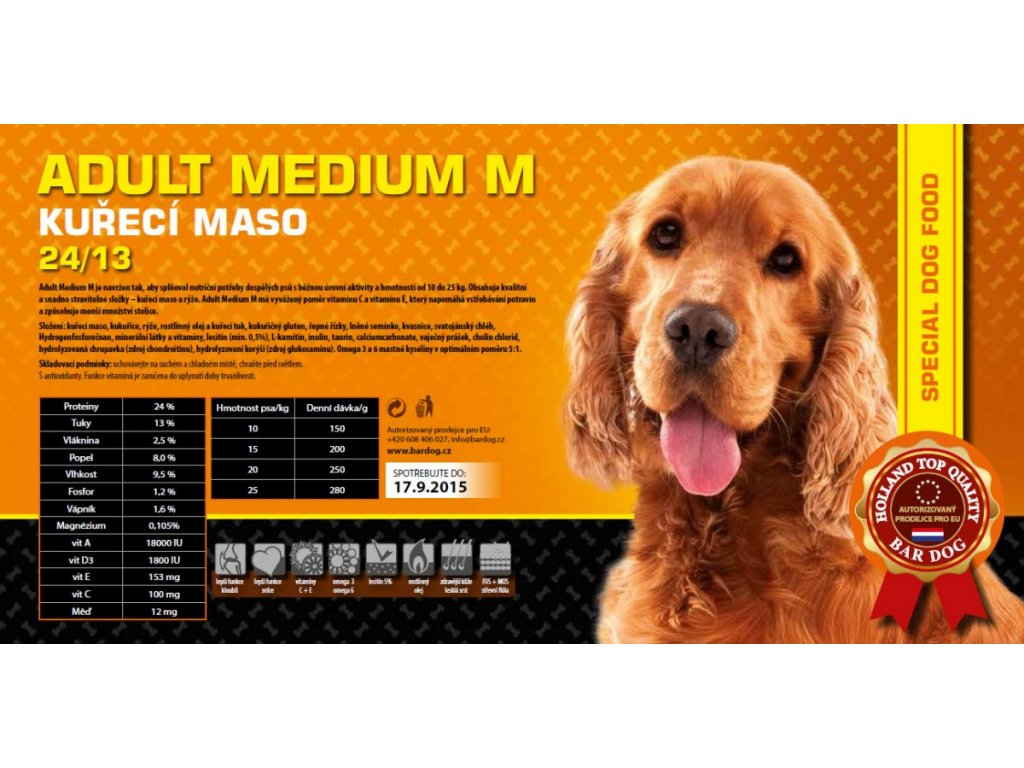 Bardog Adult Medium M 24/13 Super Premium
