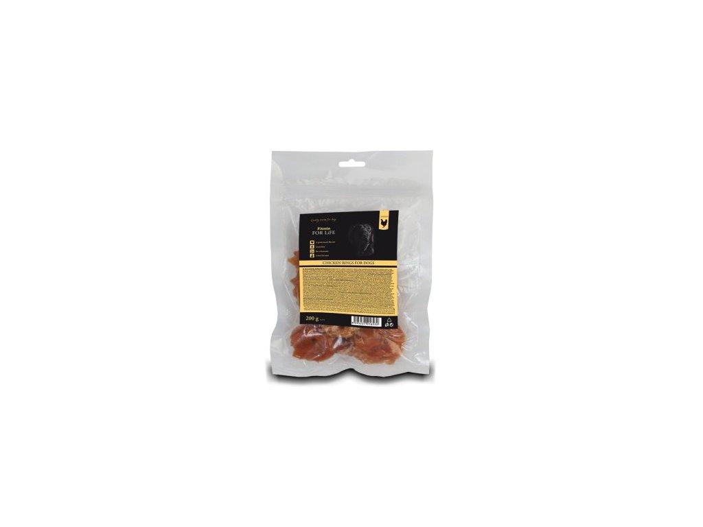 FFL dog treat chicken rings 200g