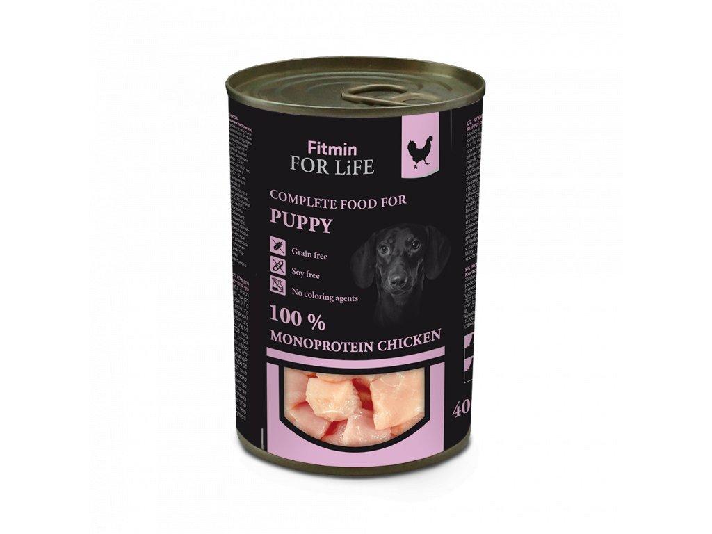FFL dog tin puppy chicken 400 g