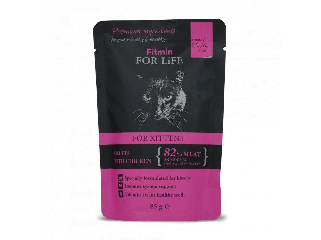 FFL cat pouch kitten chicken 85g