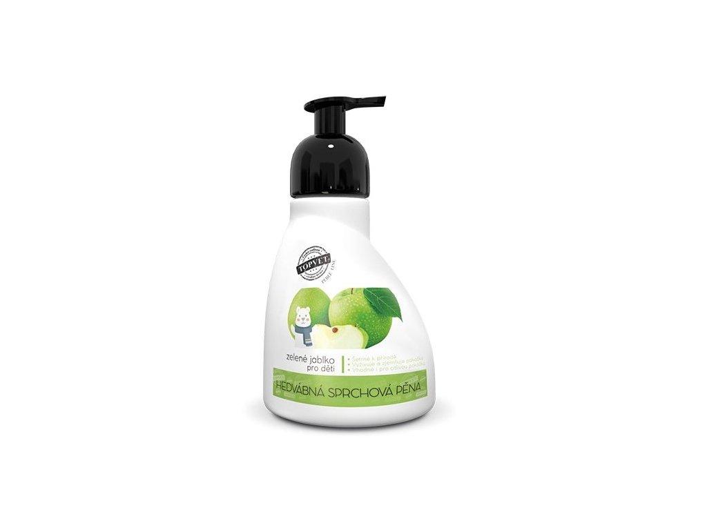4850 topvet sprchova pena zelene jablko vhodne pro deti 300ml