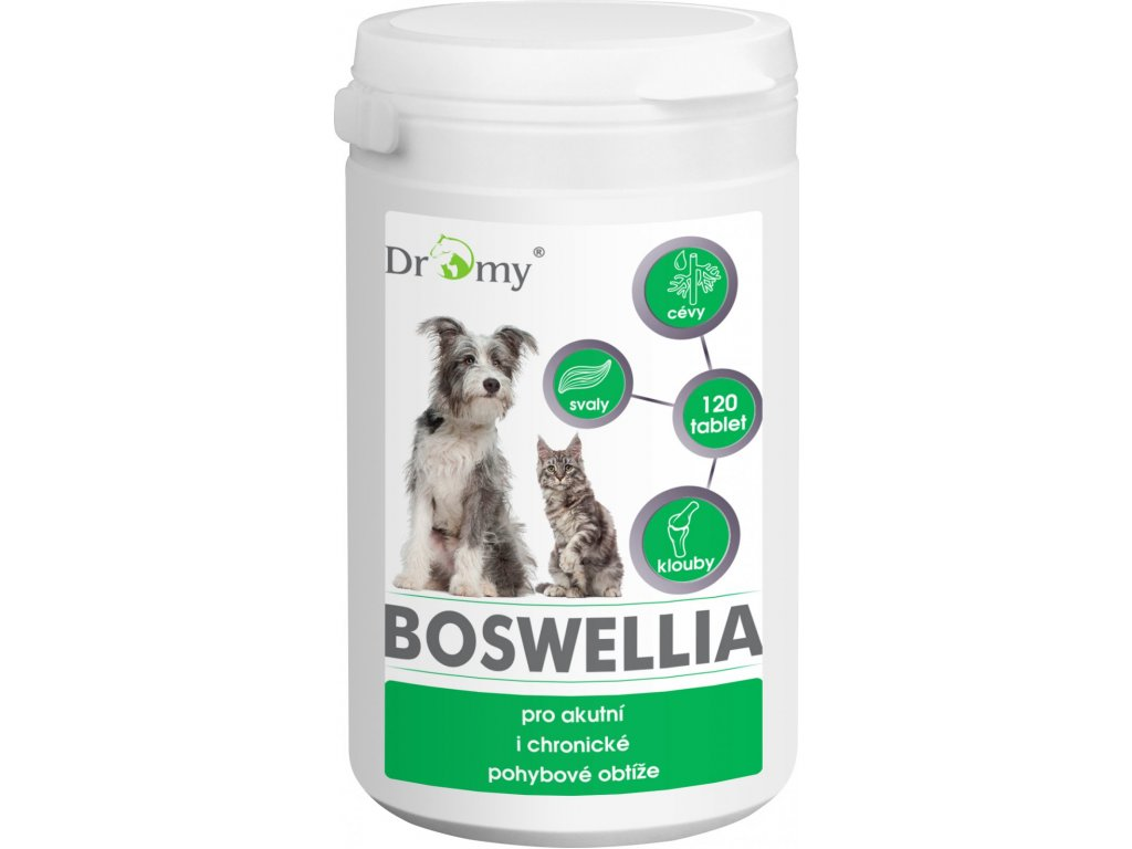 Dromy boswellia pro akutní a pohybové obtíže psů a koček